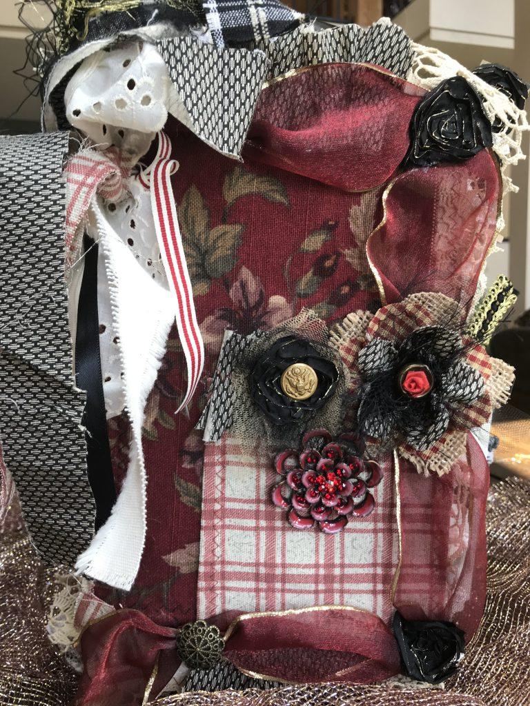junk journal-vintage-fabric-lace