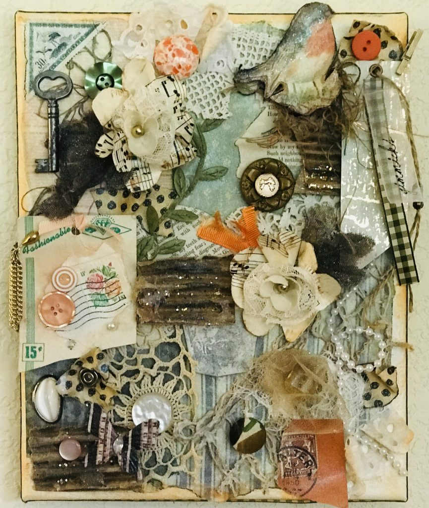 mixed media-vintage-shabby chic-collage